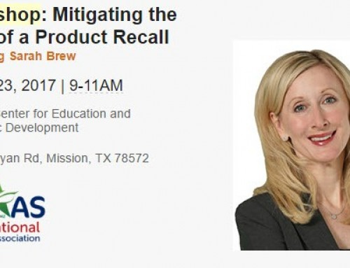 Workshop: Mitigating the Cost of a Recall