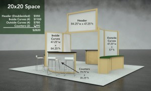 20' x 20' Booth
